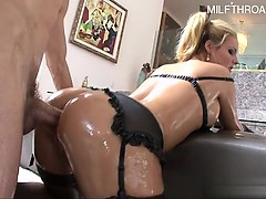 Horny housewife creampie accident