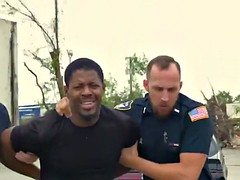 police men assist each other and cover from behind