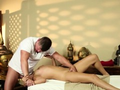Very tricky massage room of glamorous masseur