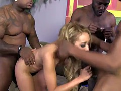 tinslee reagen is gangbanged by monster black cocks