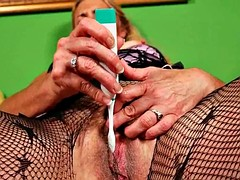 Cristine old and hairy pussy needs to get off