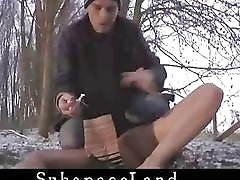 Many sensational moments in the outdoors to cock loving slut