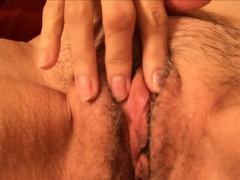 Horny amateur granny playing with her pussy.