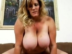 Fat whore gets her clean bald pussy nailed on camera