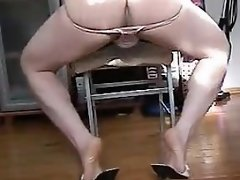 Horny Crossdressers Smashing On A Bed