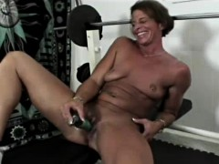 Black Fitness Milf Toy Fucking