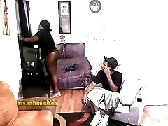 Delicious tranny shows a black dude how to fuck properly