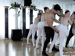 Swingers orgy party and dildo oil Ballerinas