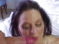 Gorgeous chicks enjoy sticky cumshots on their pretty faces (Compilation)