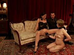 best bondage scene with kinky ladies