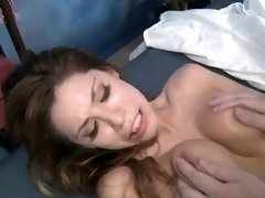 Teen beauty shows her love for cock of her friend