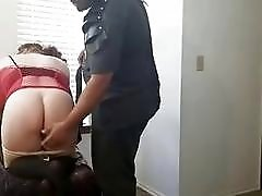 Fat ass white wife punished by ebony master BDSM porn