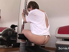 Unfaithful british milf lady sonia shows her big titties