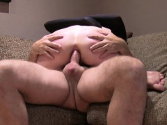 Tied up blonde anal fucked in casting