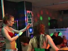 Bi sluts have sex club public orgy