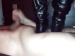 BDSM sub slave got trampled by his perverted femdom mistress
