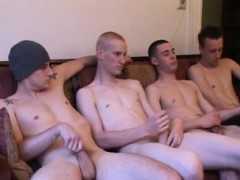 Five Young Dudes Jacking Off