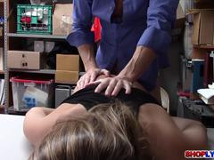 Blair Williams caught shoplifting and fucked