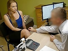LOAN4K. Bad agent fucks good student girl and approves her..