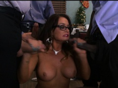 Slut gets Multiple Cocks at Work