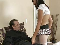 Horny tranny in pantyhose asshole nailed
