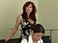 The secretary headmistress seduced her humble during work