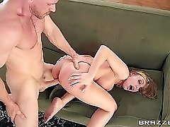 Britney Amber gets loud as he fucks her from behind