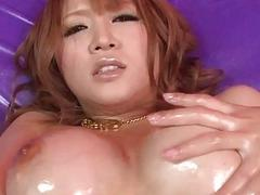 Busty Yuki Touma plays with cock in nasty ways