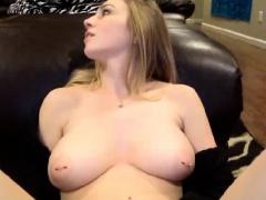 Busty Blonde Webcam Girl Sucking Cock