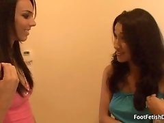 Tiffany Tyler Lesbian Foot Worship with Vicki Chase