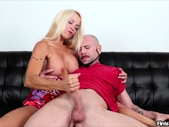 Hot blonde MILF Dani Dani is horny as fuck and Dom isn't