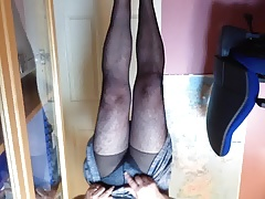 Stephanie in tights, heels n horny