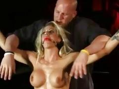 Tied up slut Holly Heart fucked hard by master BDSM
