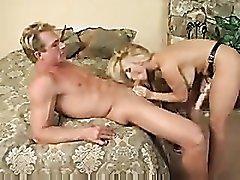 Holly Halston fucks guy with strapon