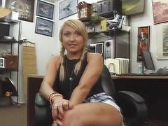 Blonde amateur banged for some cash