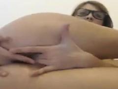 Hairy brunette milf orgasm