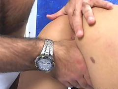 Blonde screams in anal drilling