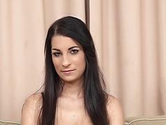 Real Interracial Castings Elizabeth Natural Tits