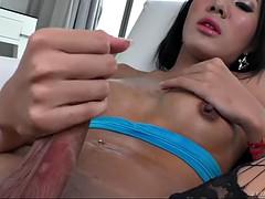 big titties shemale milks liters of warm cum from her very hard [pecker