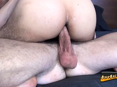 Muscly hunk assfucked raw