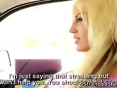 A Busty bitch Feser gets fucked by a passing car driver