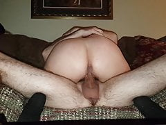 PART 1, 57 YEAR OLD COUGAR RIDES 29 YEAR OLD CUB ON COUCH!!