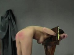 Babe get's her ass spanked hard
