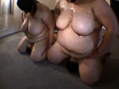 Two chunky Asian babes explore their wild fetish fantasy