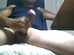 guy spanish big cock handjob masturbate cumshot
