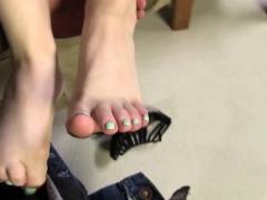 White worshipped feet