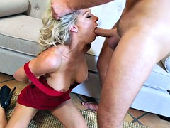 From her throat deep in her wet milf meat holes