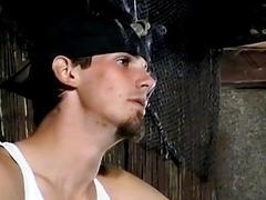 Cigar loving young men jerking off hard