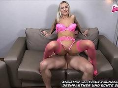 German skinny blond milf in pink fuck other boy
