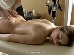 Beauty welcomes stud's muff plowing after sexy massage